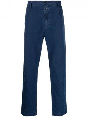 Прямые брюки средней посадки Closed. Цвет: синий