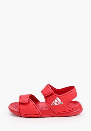 Сандалии adidas. Цвет: коралловый