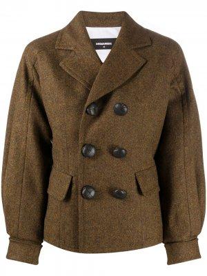 Двубортный пиджак Dsquared2. Цвет: коричневый