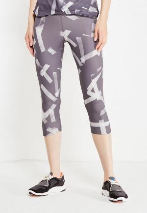 Тайтсы adidas. Цвет: серый