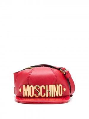 Поясная сумка в форме кепки Moschino. Цвет: красный