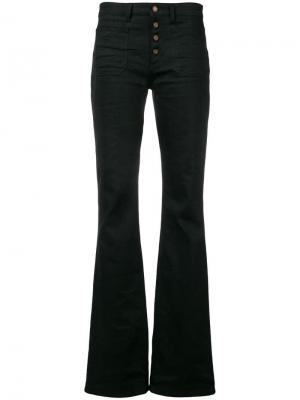Расклешенные джинсы Saint Laurent. Цвет: черный