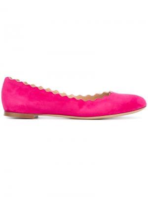 Балетки Lauren Chloé. Цвет: розовый и фиолетовый