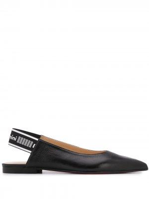 Туфли с ремешком на пятке Baldinini. Цвет: черный