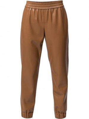 Зауженные брюки Pete Alice+Olivia. Цвет: коричневый