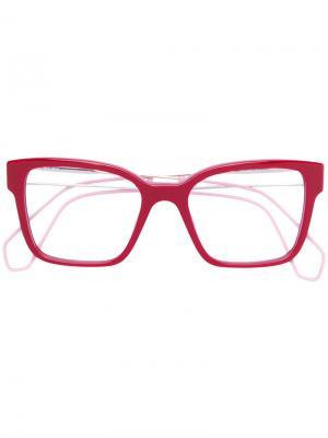 Очки в оправе прямоугольной формы Miu Eyewear. Цвет: красный