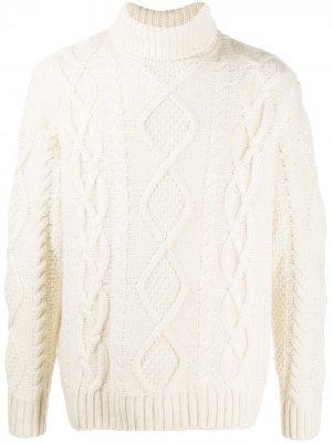 Джемпер фактурной вязки Nudie Jeans. Цвет: белый