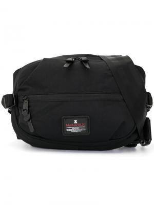 Рюкзак на одной лямке Jade E.P. поясная сумка Evolution Makavelic. Цвет: черный