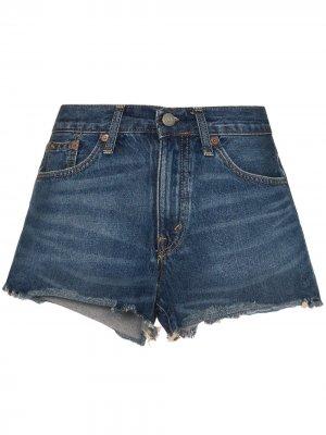Джинсовые шорты с необработанными краями Polo Ralph Lauren. Цвет: синий