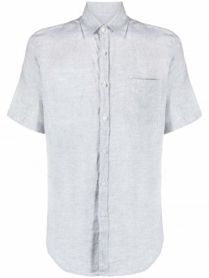 Рубашка с короткими рукавами Canali. Цвет: серый