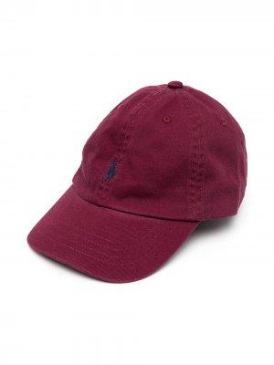Бейсболка с вышитым логотипом Ralph Lauren Kids. Цвет: красный
