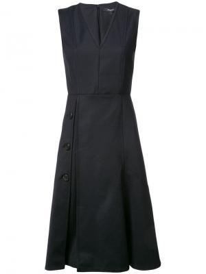 Платье с V-образным вырезом Derek Lam. Цвет: черный