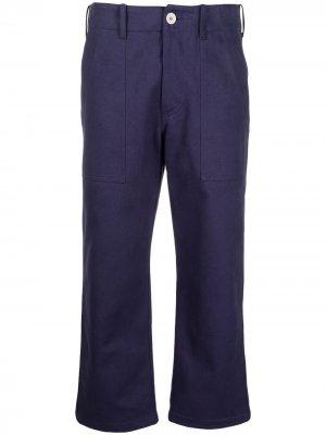 Укороченные расклешенные брюки Jejia. Цвет: синий