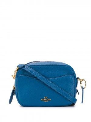 Маленькая сумка через плечо Camera Coach. Цвет: синий