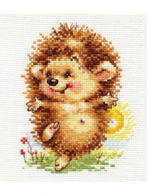 Набор для вышивания Здравствуй новый день!  10 х13 см Алиса. Цвет: желтый, коричневый