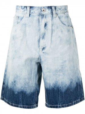 Джинсовые шорты с эффектом деграде FIVE CM. Цвет: синий