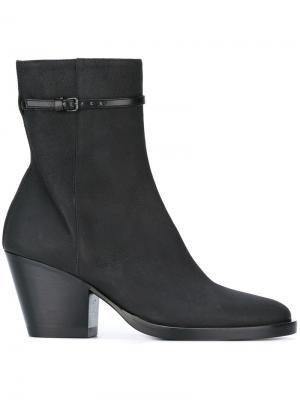 Ботинки на каблуке средней высоты A.F.Vandevorst. Цвет: чёрный