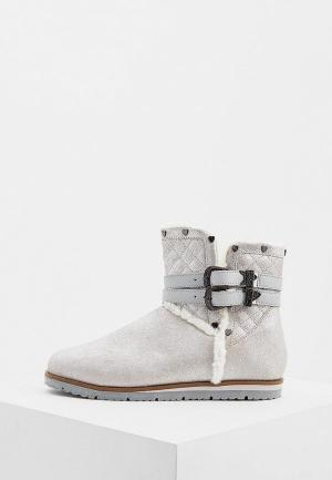 Полусапоги Trussardi Jeans. Цвет: серебряный