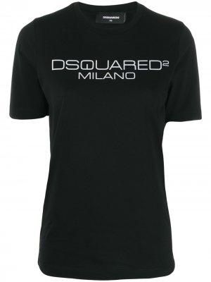 Футболка с логотипом Dsquared2. Цвет: черный