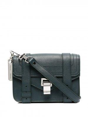 Mini PS1 crossbody bag Proenza Schouler. Цвет: зеленый