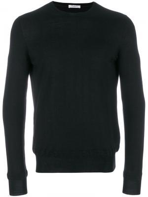 Классический трикотажный свитер Paolo Pecora. Цвет: черный