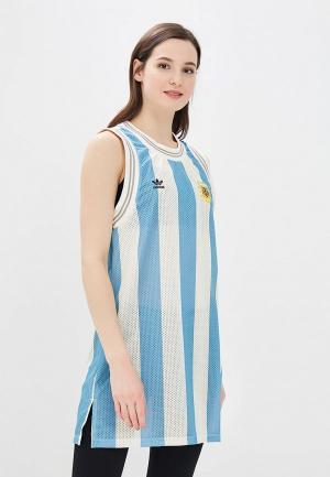 Платье adidas Originals. Цвет: голубой