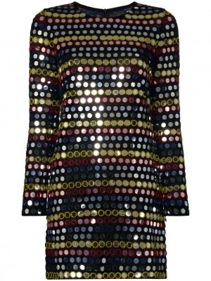 Платье мини с пайетками Ashish. Цвет: черный