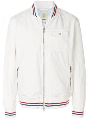 Куртка-бомбер Baseball Gant Rugger. Цвет: белый