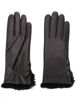 Перчатки Aliette Agnelle. Цвет: черный
