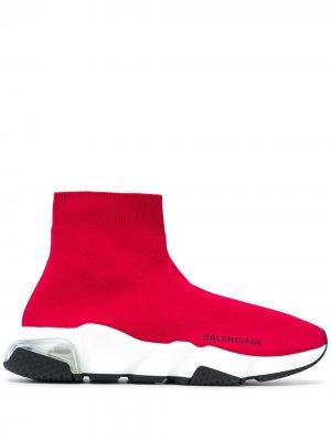 Кроссовки-носки Speed Balenciaga. Цвет: красный