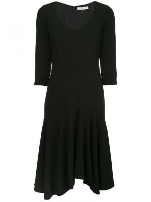 Платье с плиссированной юбкой Halston Heritage. Цвет: черный