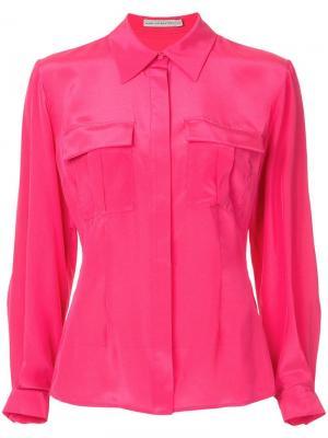 Рубашка с двумя нагрудными карманами Mary Katrantzou. Цвет: розовый