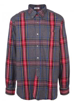 Рубашка в клетку на пуговицах Engineered Garments. Цвет: синий