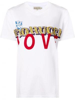 Short sleeved T-shirt Fiorucci. Цвет: белый