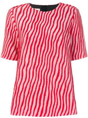 Блузка в волнистую полоску Marni. Цвет: красный