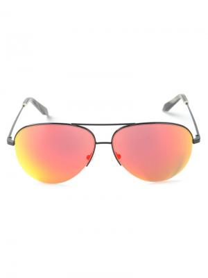 Солнцезащитные очки авиаторы Victoria Beckham. Цвет: черный
