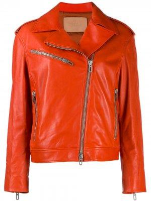 Байкерская куртка Drome. Цвет: оранжевый
