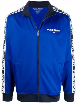Спортивная куртка с логотипом POLO RALPH LAUREN SPORT. Цвет: синий
