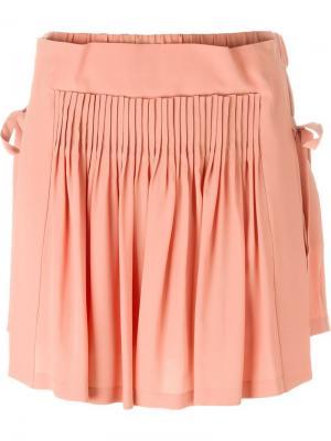 Плиссированные шорты с завязками по бокам Nº21. Цвет: розовый и фиолетовый