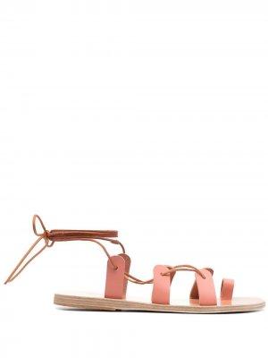 Сандалии Alcyone с ремешками Ancient Greek Sandals. Цвет: розовый