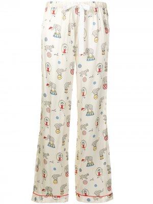 Пижамные брюки Chantal Morgan Lane. Цвет: желтый