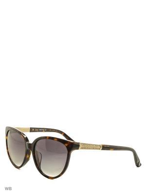 Солнцезащитные очки SK 0082F 52P Swarovski. Цвет: коричневый, золотистый