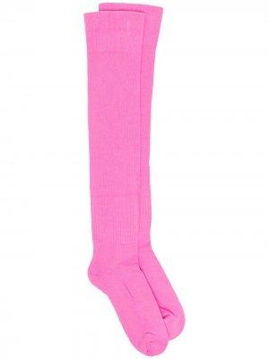 Носки Phlegethon в рубчик Rick Owens. Цвет: розовый