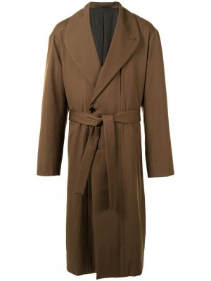 Cotton belted trench coat Lemaire. Цвет: коричневый