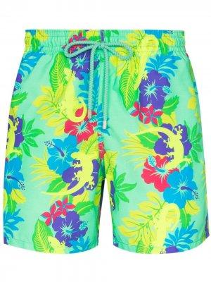 Плавки-шорты Moorea с принтом Vilebrequin. Цвет: зеленый