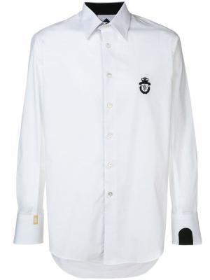 Рубашка на пуговицах с логотипом Billionaire. Цвет: белый