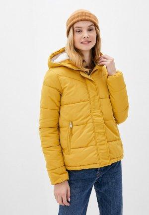 Куртка утепленная Springfield. Цвет: желтый