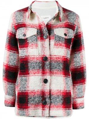Клетчатая куртка-рубашка Gaston Isabel Marant Étoile. Цвет: красный