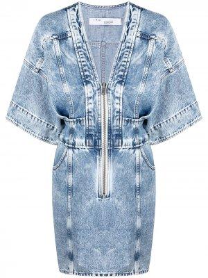 Джинсовое платье Liera на молнии IRO. Цвет: синий