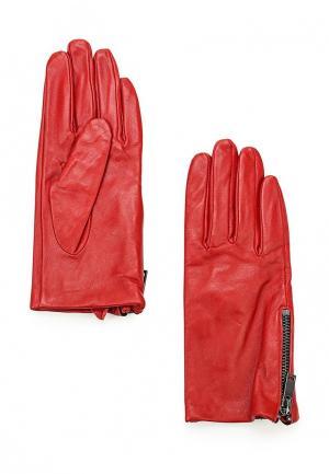 Перчатки Mango. Цвет: красный